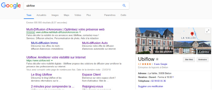 google my business ubiflow