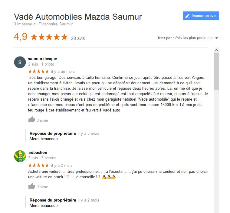 vade automobiles_avis google